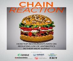 Fast food on drugs - Most top fast and fast casual chains fail to address antibiotics in their meat. Learn more --> bit.ly/chainreactionreport