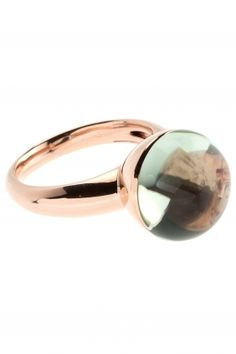 rose gold ring with green amethyst I designed for NEW ONE I NEWONE-SHOP.COM