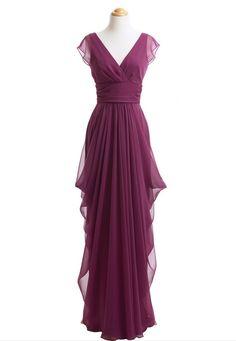 Real Photo Long Bridesmaid Dresses, Burgundy Bridesmaid Dress,