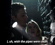 """""""I, uh, wish the pipes were  lean."""" 