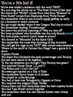 some of these are so true. I have the fresh prince of bel air rap down by now. Love The 90s, Back In The 90s, 90s Childhood, My Childhood Memories, 90s Party, Ol Days, Good Ole, 90s Kids, Do You Remember