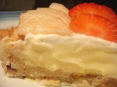Bake - a - holic: Vanilla Custard Tart with Coconut Macaroon Crust Custard Tart, Vanilla Custard, Mango Tart, Good Pie, Coconut Macaroons, Breakfast For Dinner, Sweet Recipes, Sweets, Baking