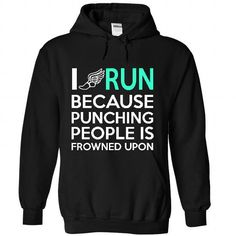 I RUN T Shirts, Hoodies. Check price ==► https://www.sunfrog.com/Sports/I-RUN-4186-Black-28356817-Hoodie.html?41382