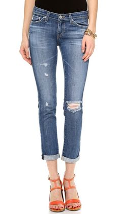 AG Adriano Goldschmied The Stilt Cigarette Roll Up Jeans