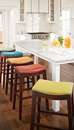 the mitered leather carson stool is one of the finest bar none