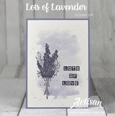 Stampin Up: Lots of Lavender Card!