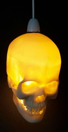 Skeleton Lamps: The Skull Light is a Creepy Way to Light Your Way