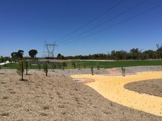 Bioretention basins and flood storage areas underneath power line easements at Calleya, Western Australia. An efficient use of space. Basins, Storage Area, Western Australia, Westerns, Country Roads, Landscape, Space, Floor Space, Scenery