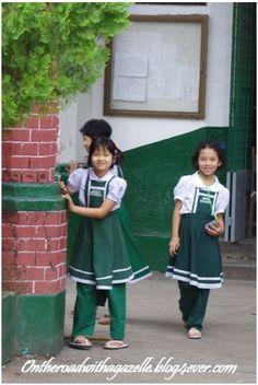 Little girls at school - Yangon - Myanmar