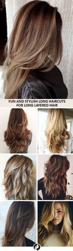 Beautiful Long Haircuts for Long Layered Hair Collage