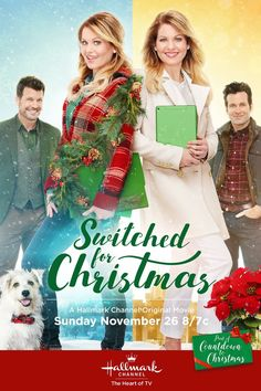 """Its a Wonderful Movie - Your Guide to Family and Christmas Movies on TV: Switched for Christmas - a Hallmark Channel Original """"Countdown to Christmas"""" Movie starring Candace Cameron Bure! Películas Hallmark, Films Hallmark, Hallmark Holiday Movies, Christmas Movies On Tv, Hallmark Holidays, Hallmark Channel, Disney Channel, Christmas 2017, Christmas Lunch"""