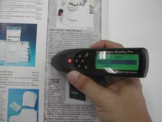 A reading pen reads text to readers and also provides them with an example of fluency and proper pronunciation of words.
