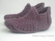 Knitting pattern slippers for home and office by LecrochetArt - Mary McNabb - Knitting Patterns Free, Knit Patterns, Free Knitting, Free Pattern, Yarn Projects, Knitting Projects, Knitting Ideas, Crochet Hooks, Knit Crochet