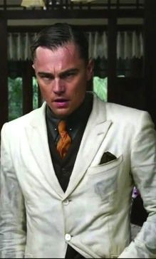 Leonardo DiCaprio as Jay Gatsby...I'm not sure who I actually want as my husband. DiCaprio? Gatsby? Both? Either way, DiCaprio knows how to work it when wet.  ;-)