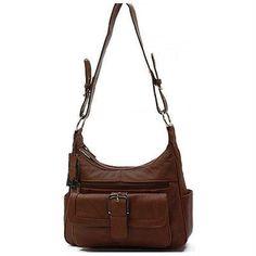 e42958de44 AFONiE Collection Timeless Genuine Leather Women Purse Brown Color