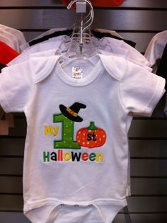 My 1st Halloween - first Halloween  - Appliqued and Embroidered Shirt or Infant Bodysuit | MJCustomEmbroidery - Clothing