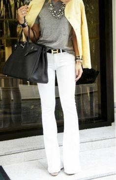 Grey, White, Yellow & Black
