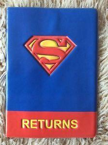 Marvel-Superman-UK-Passport-Identity-Travel-ID-Cover-Holder-Holiday-USA-Gift