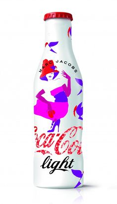 "Coca Cola Light ""Années Limited Edition bottle designed by Marc Jacobs Coca Cola Cooler, Coca Cola Vintage, Coca Cola Light, Coca Cola Decor, Coca Cola Santa, Always Coca Cola, Coca Cola Bottles, Packaging, Diet Coke"