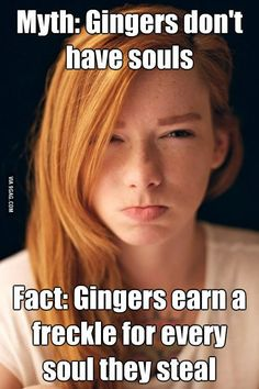 gingers | 9GAG - Myth and Fact about Gingers