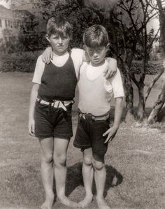 Young Kennedy brothers: Joseph P. Kennedy, Jr. and John F. Kennedy