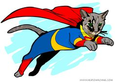 Today, We're Turning Your Cat Into a Superhero -- Literally