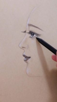 Art Drawings Sketches Simple, Pencil Art Drawings, Realistic Drawings, Cute Drawings, Sketches Of People, Drawing People, Side Face Drawing, Face Sketch, Indian Art Paintings