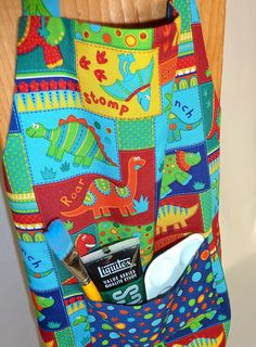 Dinosaurs Reversible Kids Apron with Pocket  by 4EverydayEmbellished, $25.00