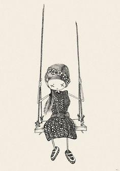 girl... on a swing - limitierter (100 Stück) Kunstdruck, 70x100 cm auf alterungsbeständigem Kunstdruckpapier auf Etsy, 50,00€
