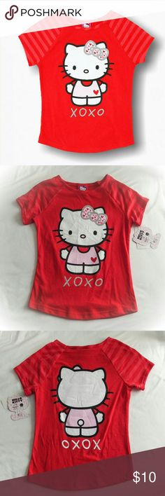 ⭐NWT Hello Kitty tee Girls' Hello Kitty tee brand new with tags. Adorable design with graphic on both front and back. Hello Kitty Shirts & Tops Tees - Short Sleeve