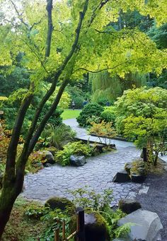 japan garden Deciding the garden pathway designs should be on the list of your new landscaping plan. It is an important part of your outdoor area because you will use it most when walking Japanese Garden Landscape, Portland Japanese Garden, Japanese Garden Design, Small Garden Design, Japanese Garden Backyard, Japanese Gardens, Garden Types, Garden Paths, Herbs Garden