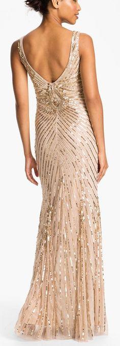Aidan Mattox Beaded Silk Chiffon Gown Gowns Pinterest Gowns
