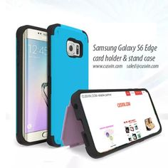 Galaxy S6 Edge Card holder stand case  (for iPhone series, Galaxy series) cusvin.com