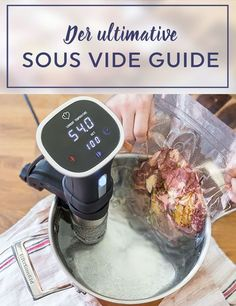 So geht Sous vide: Der ultimative Guide - Lecker - Healthy Eating Tips, Healthy Nutrition, Rice Recipes For Dinner, Star Chef, Sous Vide Cooking, Grilling Tips, Food Menu, Original Recipe, Casserole Dishes