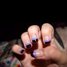 rainbow tips mani