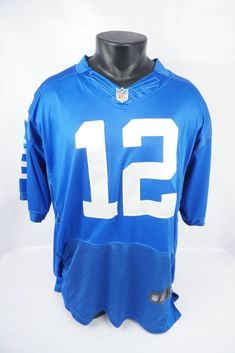 Nike NFL Football Andrew Luck Indianapolis Colts Stitched Jersey Adult Tag Sz 52 #Nike #IndianapolisColts