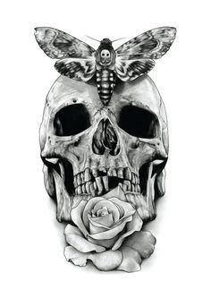luna moth tattoo black and white - Google Search