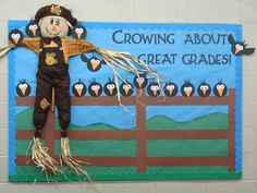 us wp-content uploads 2015 10 scarecrow-bulletin-board. Hallway Bulletin Boards, November Bulletin Boards, Thanksgiving Bulletin Boards, Bulletin Board Design, Halloween Bulletin Boards, Interactive Bulletin Boards, Birthday Bulletin Boards, Winter Bulletin Boards, Preschool Bulletin Boards