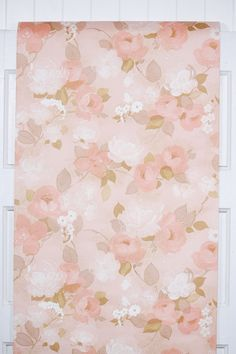 retro wallpaper 1970s roses in pink Retro Floral, Different Patterns, Pink Retro Wallpaper, Pink Roses, 1970s, Quilts, Yards, Drop, Vintage