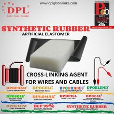Seeking out a good cross-linking agent for wires and cables? Well DPL's synthetic rubber #ArtificialElastomer provides your products a good heat resistance with a long term usage. Contact Us to know more: Synthetic Rubber, Memory Foam, Wire, Clay, Products, Clays, Gadget, Modeling Dough