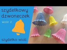 Szydełko Wioli - szydełkowy dzwoneczek (nowy wzór) - YouTube Crochet Christmas Ornaments, Christmas Tree, Crochet Clothes, Crochet Hats, Baby Knitting, Stitch, Youtube, Advent, Houses