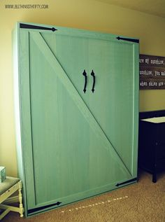 DIY Murphy Bed - THIS is how you turn a bedroom that's only used on weekends into useable space for everyone! ~ KSM