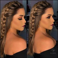 formandas formandaselibee medicinafipmoc medicina maquiagem makeup… Longhairbraids is part of Braided hairstyles - Braided Hairstyles Updo, Pretty Hairstyles, Curly Hair Styles, Natural Hair Styles, Hair Due, Pinterest Hair, Hair Looks, Hair Inspiration, Hair Makeup