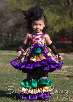 My fave; seeing how adorable kids look on Mardi Gras Day! Mardi Gras Dress Set