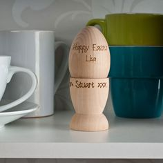 Personalised wooden egg and egg cup personalised gifts personalised wooden egg and egg cup personalised gifts gettingpersonal negle Image collections