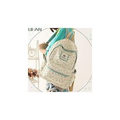 Printed Canvas Backpack (635 MXN) ❤ liked on Polyvore featuring bags, backpacks, accessories, backpacks bags, brown bag, canvas knapsack, brown backpack and rucksack bag