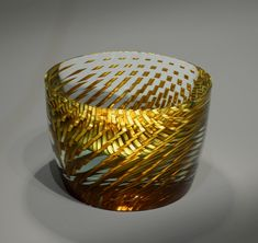 Artist: Tomáš Hlavička Title: BUCKET Process: Cut, polished, laminated glass, gold leafa Year: 2015 Please contact the gallery for pricing  Habatat Galleries 248.554.0590 – info@habatat.com