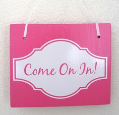 Come on In / Gone Shopping  Double Sided Hanging by Frameyourstory, $29.99