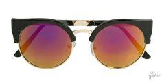 Óculos De Sol Gatinha E Redondo Espelhado M Metal E Acetato || Ui! Gafas  / Milo Mirror - UI412