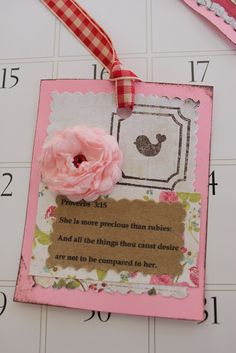 """""""Isabelle Thornton"""" Le Chateau des Fleurs: How to make an English cabbage rose with paper for scrapbooking and handmade tags"""